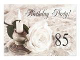 85 Year Old Birthday Invitations Birthday Party Invitation 85 Years Old Zazzle