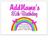 85 Year Old Birthday Invitations Invitations for 85 Year Old Birthday 85 Year Old