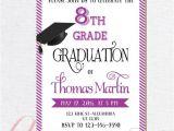 8th Grade Graduation Invitation Ideas 8th Grade Graduation Invite Printable Graduation Invitation