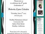 8th Grade Graduation Invitation Wording 8th Grade Graduation Favors Just B Cause