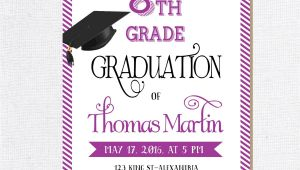 8th Grade Graduation Party Invitations 8th Grade Graduation Invite Printable Graduation Invitation