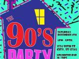 90s House Party Invitation Template 90 S theme House Party Digital Birthday Invitation