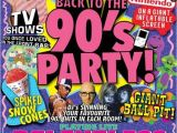90s House Party Invitation Template Press Flyer Image Rmh the Venue Bang Presents Back to