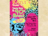90s Party Invitation Template 90s Throwback Birthday Invitation Custom Invite Printable