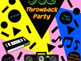 90s Party Invitation Template How to Throw the Perfect 90s Throwback Party Kindly
