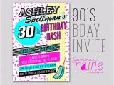 90s Party Invitations 90 39 S Invitation Printable Digital Birthday Party