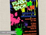 90s theme Party Invitations 80s Birthday Party Invitations 90s Neon Party by Miragreetings