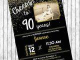90th Birthday Party Invitations Templates Free 11 90th Birthday Invitations Designs Templates Psd