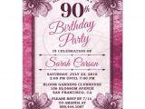 90th Birthday Party Invitations Templates Free 90th Birthday Party Invitations Party Invitations Templates