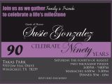 90th Birthday Party Invitations Templates Free Free 90th Birthday Invitation Templates Best Party Ideas