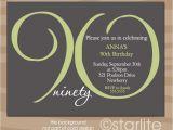 90th Birthday Party Invitations with Photo 90th Birthday Invitation Wording 365greetings