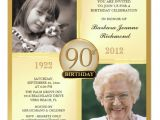 90th Birthday Party Invitations with Photo 90th Birthday Invitations and Invitation Wording