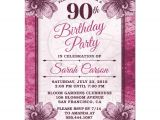 90th Birthday Party Invitations with Photo 90th Birthday Party Invitations