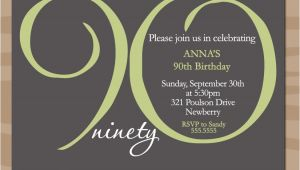 90th Birthday Photo Invitations 90th Birthday Invitation Wording 365greetings