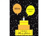 95th Birthday Party Invitations 95th Birthday Party Invitation Fun 95th Cake Zazzle