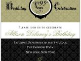 95th Birthday Party Invitations Damask 95th Birthday Invitations Paperstyle