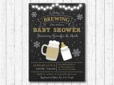 A Baby is Brewing Baby Shower Invitations Winter Baby is Brewing Baby Shower Invitation Beer Baby