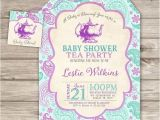 A Baby is Brewing Tea Party Baby Shower Invitations A Baby is Brewing Baby Shower Tea Party Invitations by