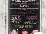 A Baby is Brewing Tea Party Baby Shower Invitations A Baby is Brewing Tea Baby Shower Invitation D157