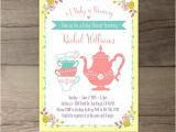 A Baby is Brewing Tea Party Baby Shower Invitations A Baby is Brewing Tea Party Baby Shower Invitations Flowers