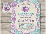 A Baby is Brewing Tea Party Baby Shower Invitations Baby Shower Invitation New Tea Party themed Baby Shower