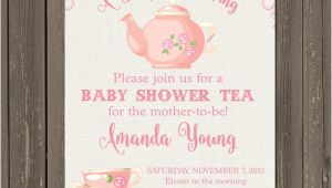 A Baby is Brewing Tea Party Baby Shower Invitations Tea Party Baby Shower Invitation Baby is Brewing Shower