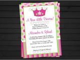 A New Little Princess Baby Shower Invitations Items Similar to Little Princess Baby Shower Invitation