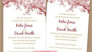 A6 Wedding Invitation Template Diy Small Printable Wedding Invitations A6 Size by