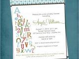 Abc Baby Shower Invitations Abc Colorful Alphabet Baby Bridal Shower Invitation