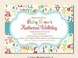 Abc Baby Shower Invitations Colorful Abc Alphabet Baby Shower Invitation Digital File or