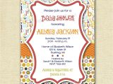 Abc Baby Shower Invitations Mod Abc Polka Dot Baby Shower Invitation Alphabet Invitation