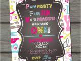 Abc Birthday Party Invitations Abc Birthday Invitation First Birthday by Partyinvitesandmore