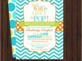 About to Pop Baby Shower Invitations Baby Boy Invitations About to Pop Baby Shower by