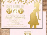 About to Pop Baby Shower Invitations She S About to Pop Baby Shower Invitation In Pink by