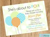 About to Pop Baby Shower Invitations Shes About to Pop Baby Shower Printable Invitation by