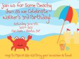 Accept Birthday Party Invitation Beach theme Birthday Invitations Cloudinvitation Com