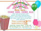 Accept Birthday Party Invitation Carnival Invitations Templates