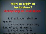 Accepting Birthday Invitation Invitations and Replies to Invitations