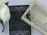 Acrylic Wedding Invitations with Box 50 Personalized Elegant Cut Acrylic Wedding Invitation