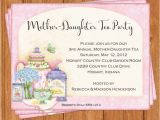 Addressing Bridal Shower Invitations to Mother and Daughter Mother Daughter Tea Invitation Bridal Shower by Bellachicards