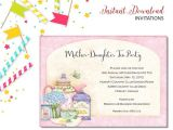 Addressing Bridal Shower Invitations to Mother and Daughter Mother Daughter Tea Invitation Bridal Shower Printable