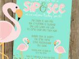 Adoption Baby Shower Invitation Wording Adoption Baby Shower Flamingo Baby Shower Invite
