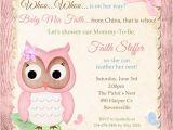 Adoption Baby Shower Invitation Wording Owl Adoption Shower Invitation Baby Party Pink Girl China