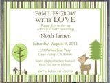 Adoption Baby Shower Invitation Wording Woodland Deer Adoption Party or Adoption Shower Invitation