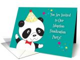 Adoption Finalization Party Invitations Adoption Finalization Party Invitations Panda Card 1399102