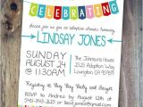 Adoption Finalization Party Invitations Celebrate Adoption Invitation Shower Party or