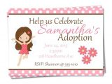Adoption Party Invitation Wording Fairy Adoption Party Invitations Adoption by