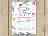 Adult Pool Party Invitations Adult Pool Party Birthday Invitation Adult by