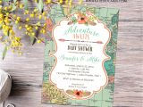 Adventure themed Baby Shower Invitations Adventure Awaits Baby Shower Invitation Gender Neutral Reveal