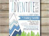 Adventure themed Baby Shower Invitations Adventure Baby Shower Invite Invitation by